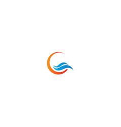 Wave ocean water sign logo vector