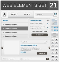 web elements set 21 vector image