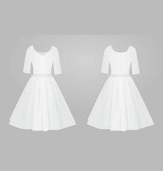 white women elegant dress vector image