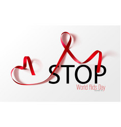 World aids day concept stop aids awareness vector