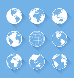 world globe icons vector image