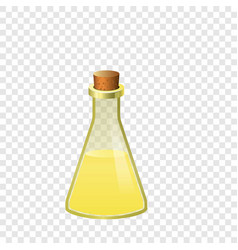 yellow flask icon cartoon style vector image