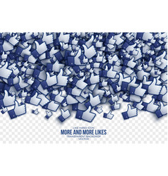 3d like hand icons abstract background vector image