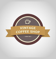coffee shop vintage badge style vector image vector image