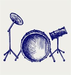 Drum set vector image vector image