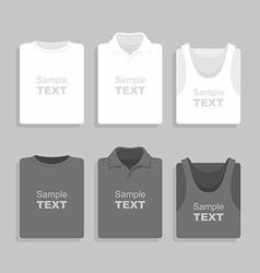 Folded t-shirts set vector image vector image