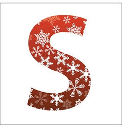 S Letter vector image vector image