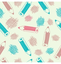Seamless background with pencils vector image vector image