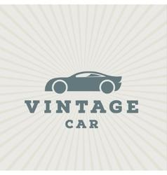 Vintage car flat high-quality logo trend vector image vector image