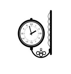 clock antique black vector image vector image