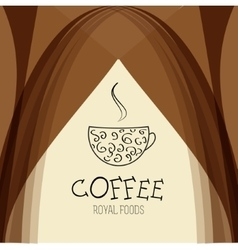 Coffee house background design template vector image