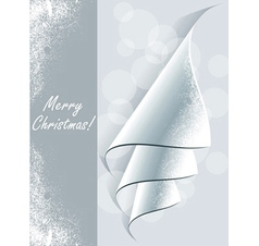 Creative Christmas tree formed from curled corner vector image