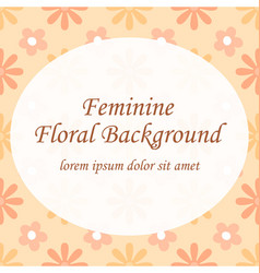 feminine peach floral seamless pattern template vector image vector image