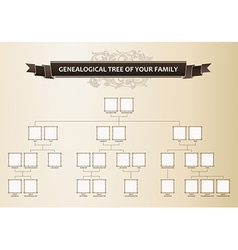 Genealogical tree of your family vector image