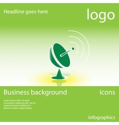 Satellite dish business background vector image vector image