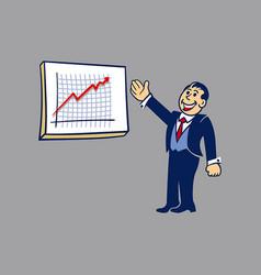 simple businessman presentation vector image vector image