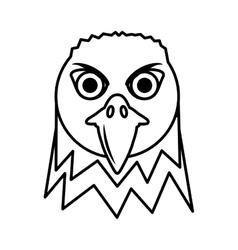 Eagle head face icon vector