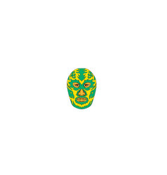 luchador mask flame fire bolt drawing vector image