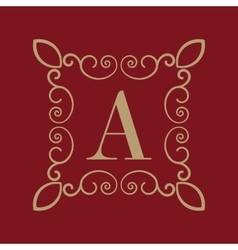 Monogram letter A Calligraphic ornament Gold vector image vector image