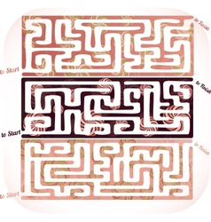 Set of lolipop maze vector image vector image