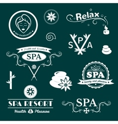 SPA logos typography vector image