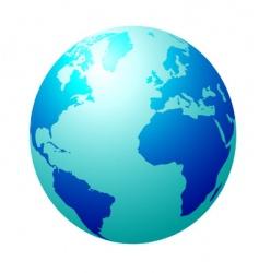 blue globe vector image