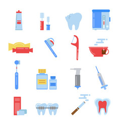 healthcare in flat style dental vector image
