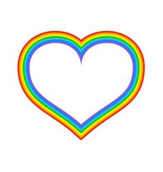 lgbt rainbow heart symbol of love fo sexual vector image