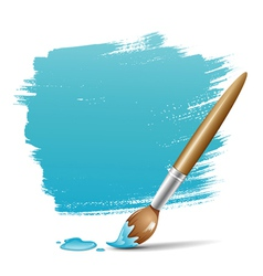 Paint brush blue background vector image