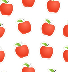 Red apples seamless background vector image