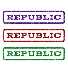 republic watermark stamp vector image