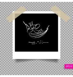 retro polaroid photo frame templat vector image