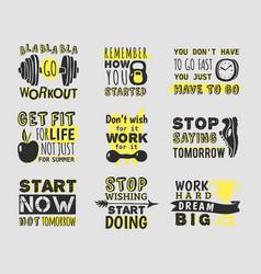 sport motivational logo design hand drawn vector image