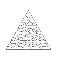 triangular labyrinth vector image vector image