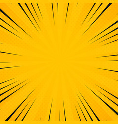Abstract sun yellow color in radiance rays vector