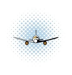 Airplane comics icon vector image