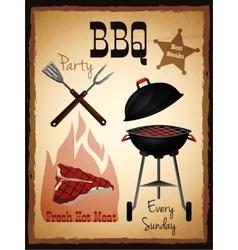 Bbq menu poster vector