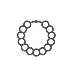 Beads line icon vector