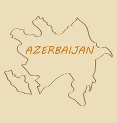 Black map of azerbaijan vector