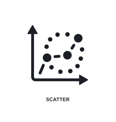 Black scatter isolated icon simple element from vector