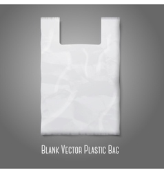 Blank white plastic bag with place for your design vector image