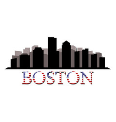 Boston skyline vector