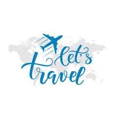 brush calligraphy travel vector image