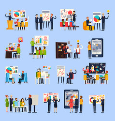 Business coaching orthogonal people vector