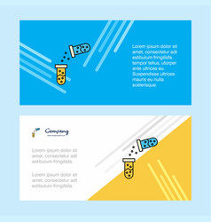 chemical reaction abstract corporate business vector image