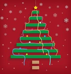 Christmas tree steps vector image