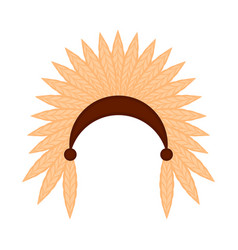 colored indian hat icon vector image