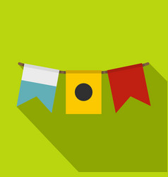 Colorful flags icon flat style vector