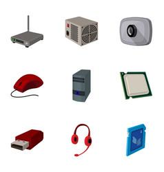 computer accessories headphones computer parts vector image