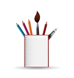 Concept school elements student vector